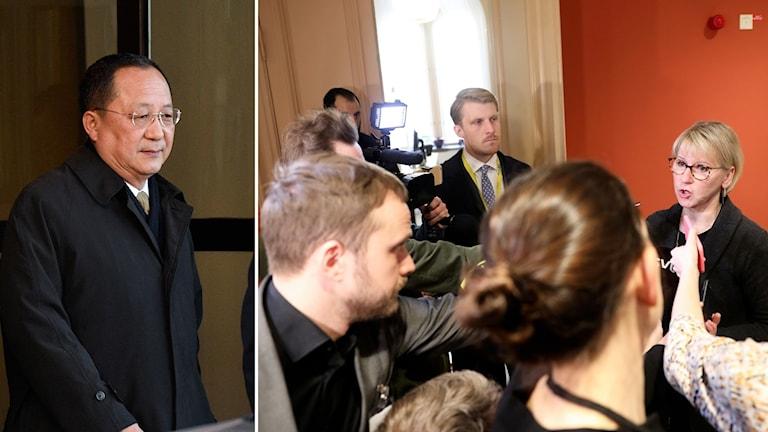 Margot Wallström kommenterar mötet mer Nordkoreas utrikesminister Ri Yong-H
