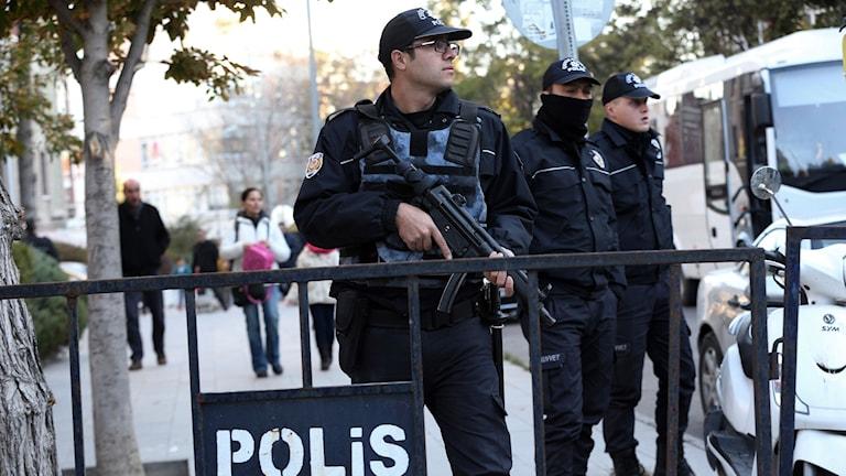 Poliser i Ankara. Arkivbild.