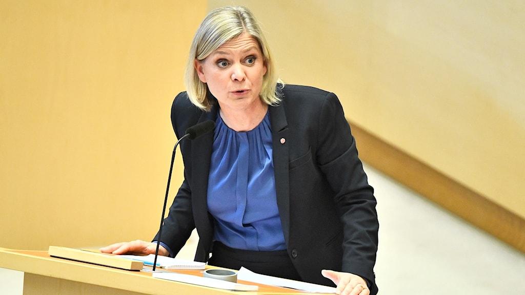 Magdalena Andersson (S) i riksdagen