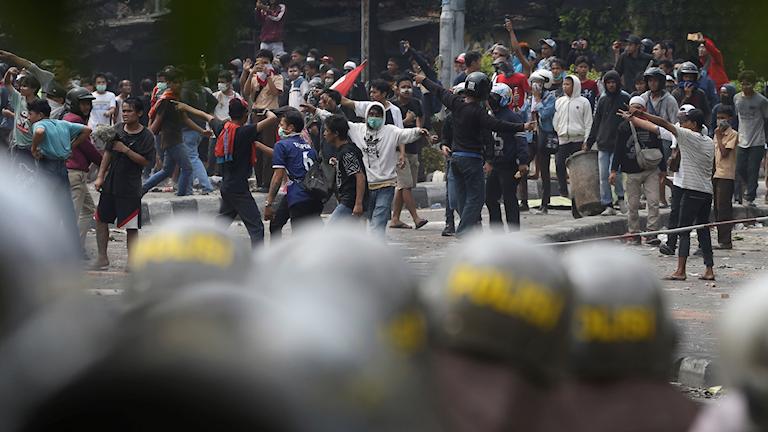 Protester i Jakarta