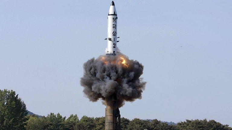 Nordkorea - robotuppskjutning.