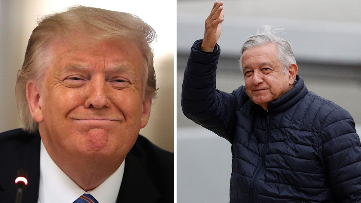 Mexikos president Andres Manuel López Obrador reste igår kväll till Washington för att idag hålla ett möte med USA:s president Donald Trump.