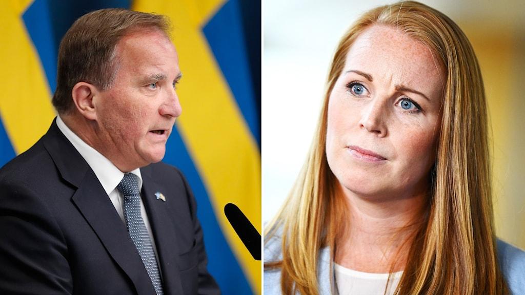 Stefan Löfven och Annie Lööf-