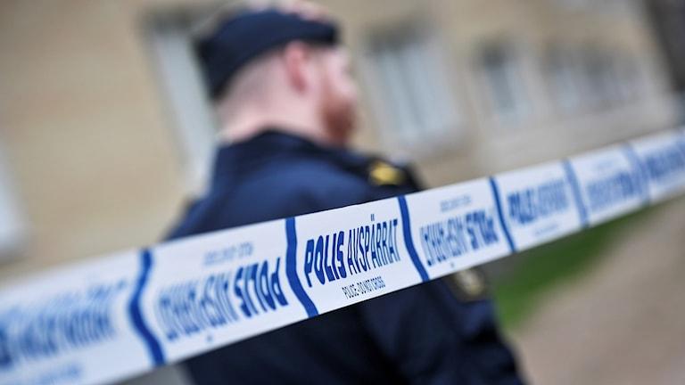 Polisavspärrning