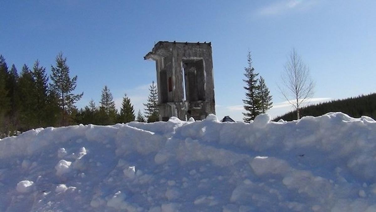 Den gamla laven i Laver. Här vill Boliden återuppta den nedlagda verksamheten i den stängda koppargruvan.