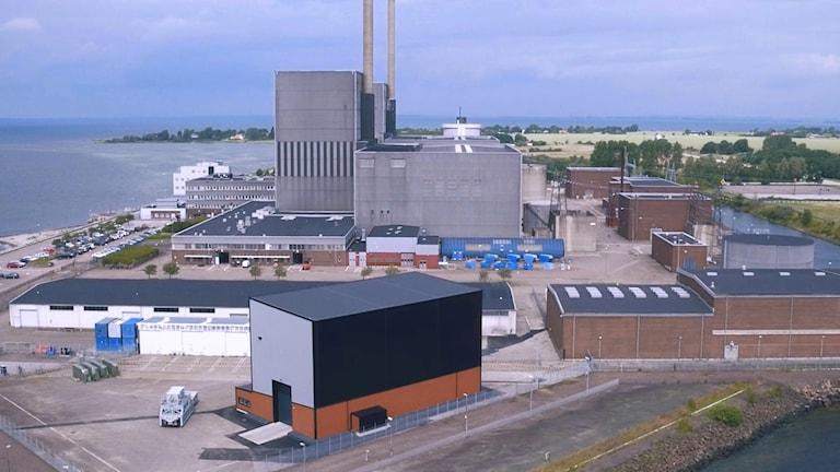 Det första mellanlagret i Barsebäck är byggt i svart plåt.