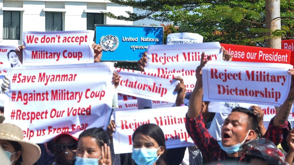 Myanmar demonstranter