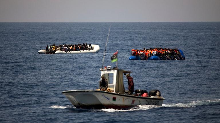 Libyen, flyktingar