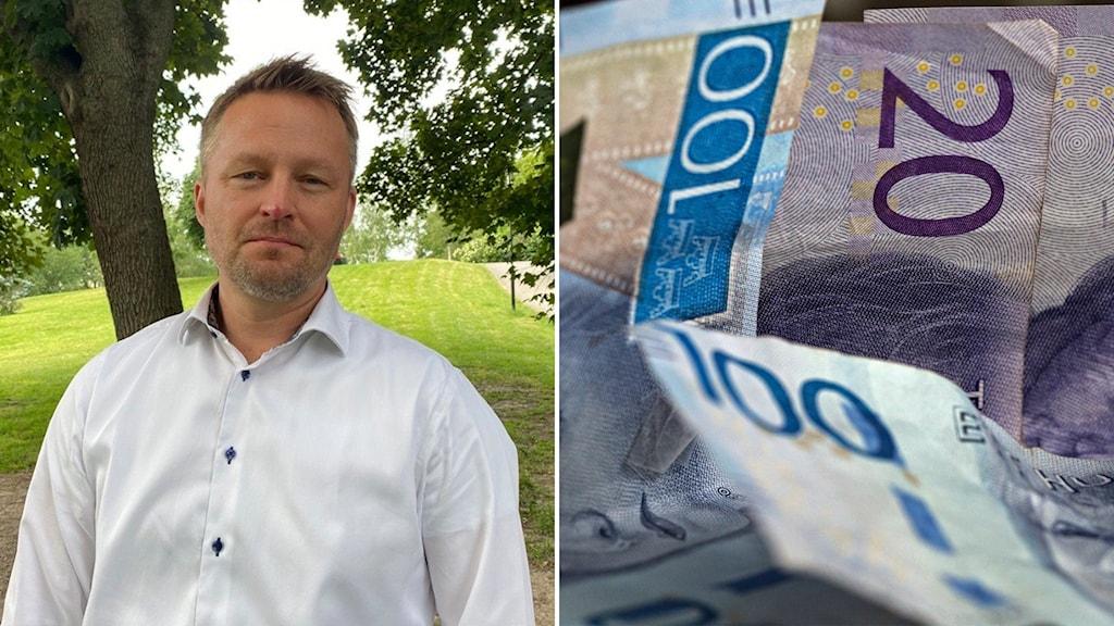 Niklas Lundh, chef för Finanspolisen/seldar med pengar