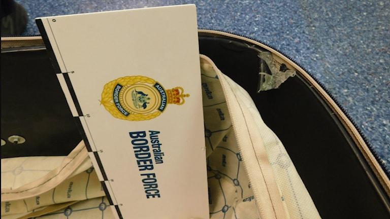 Australiens federala polis egen bild från tillslaget.