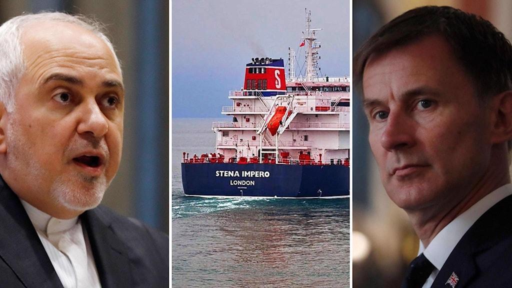 Mohammad Jaraf Zavid, Jeremy Hunt och fartyget Stena Impero