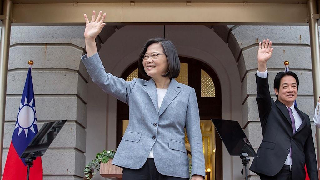 Taiwans president Tsai Ing-wen installerades idag för en andra mandatperiod.