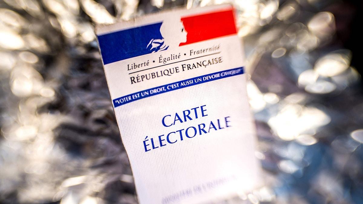 Kort med texten Carte Electorale