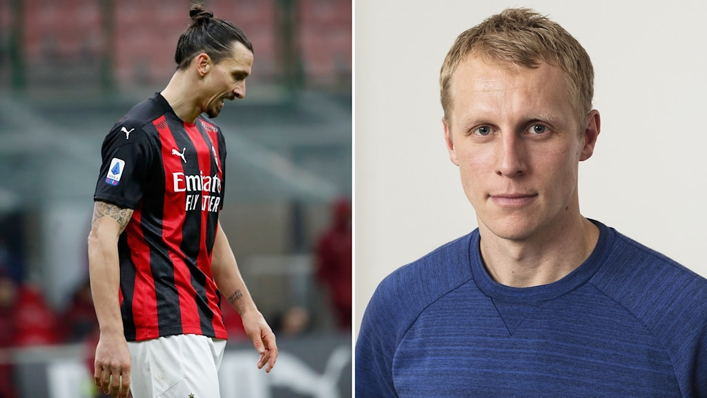 Zlatan Ibrahimovid och SR:s fotbollsexpert Richard Henriksson.