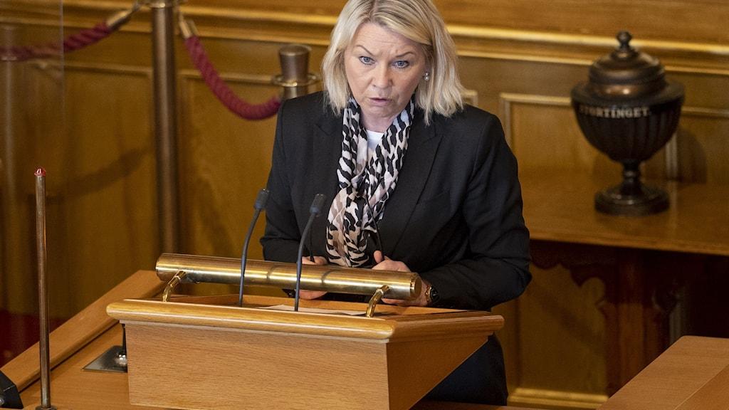Justitie. och beredskapsminister Monica Mæland (H)
