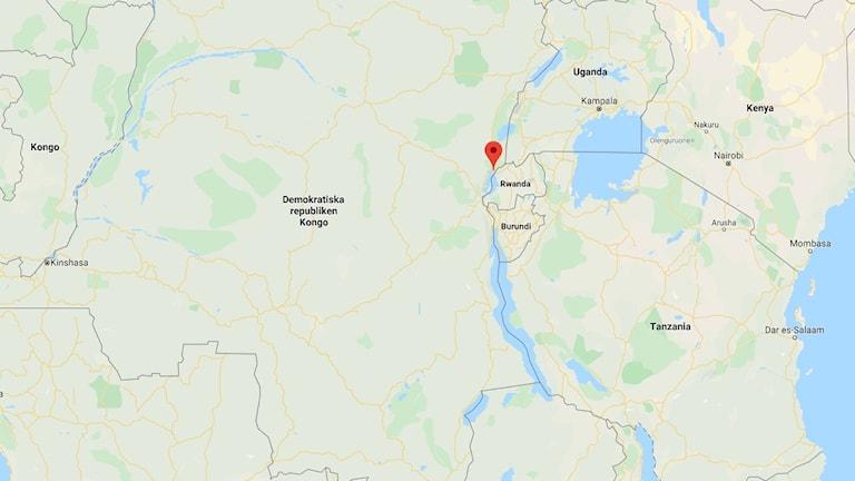 Staden Goma på kartan.