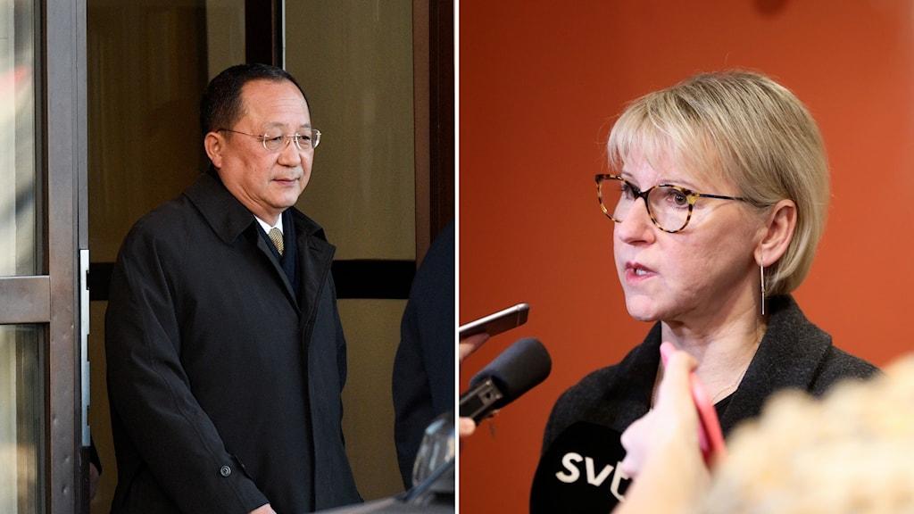 Utrikesminister Margot Wallström möter den nordkoreanska utrikesministern Ri Yong ho i New York