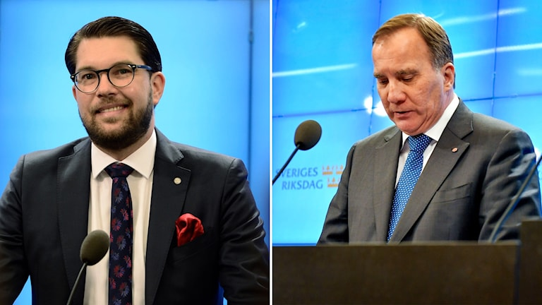 Sverigedemokraternas Jimmie Åkesson och Socialdemokraterna Stefan Löfven.