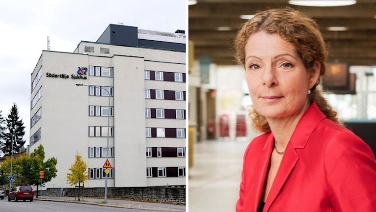 Södertälje sjukhus och Cilla Benkö.