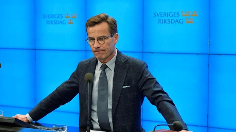 Moderaternas partiledare Ulf Kristersson(M)