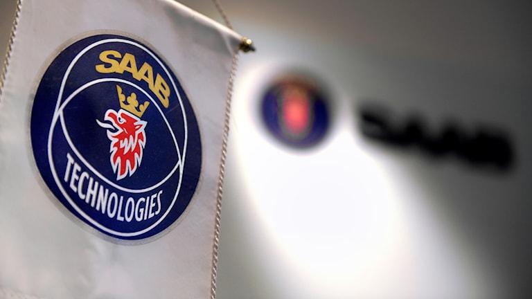 Saab-skylt