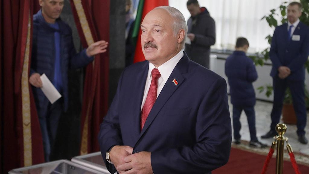 Vitrysslands auktoritäre president Aleksandr Lukasjenko.