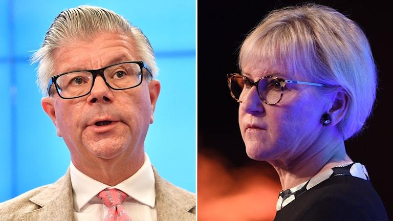 Moderaternas Hans Wallmark och Margot Wallström