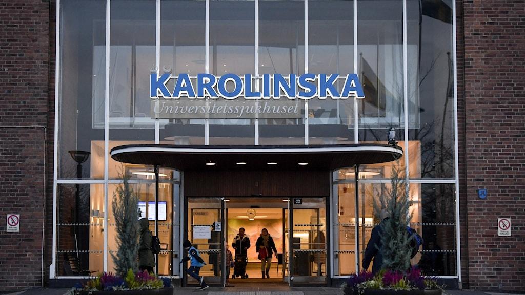 Karolinska Universitetssjukhuset i Solna.