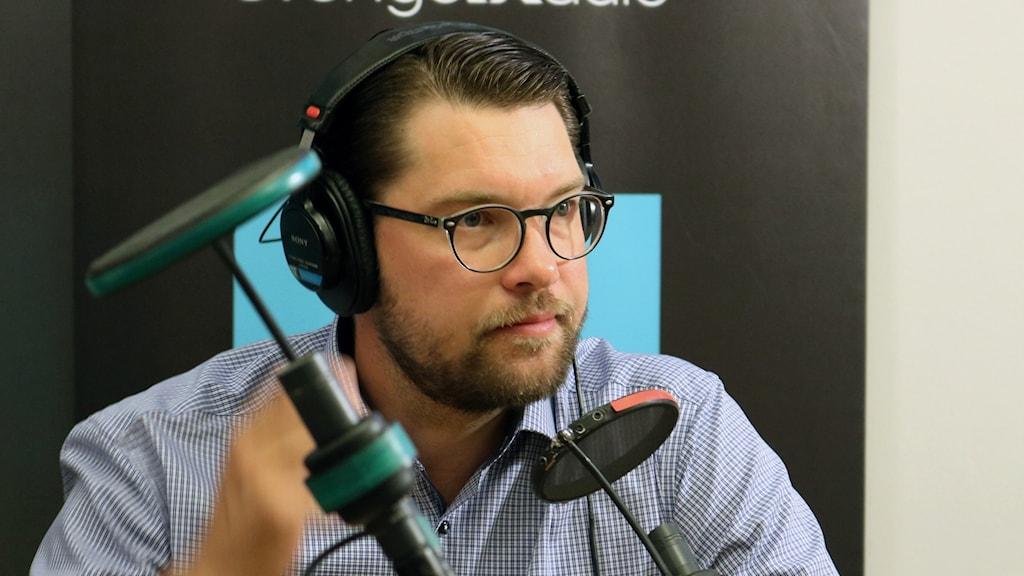 Jimmy Åkesson i Ekots partiledarutfrågning.