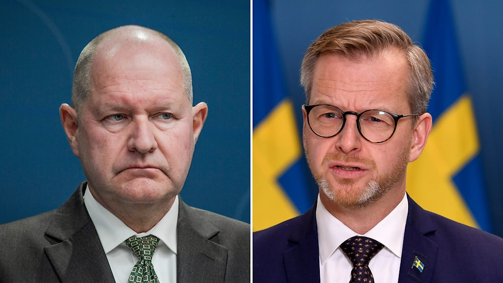 MSB:s generaldirektör Dan Eliasson och Inrikesminister Mikael Damberg.