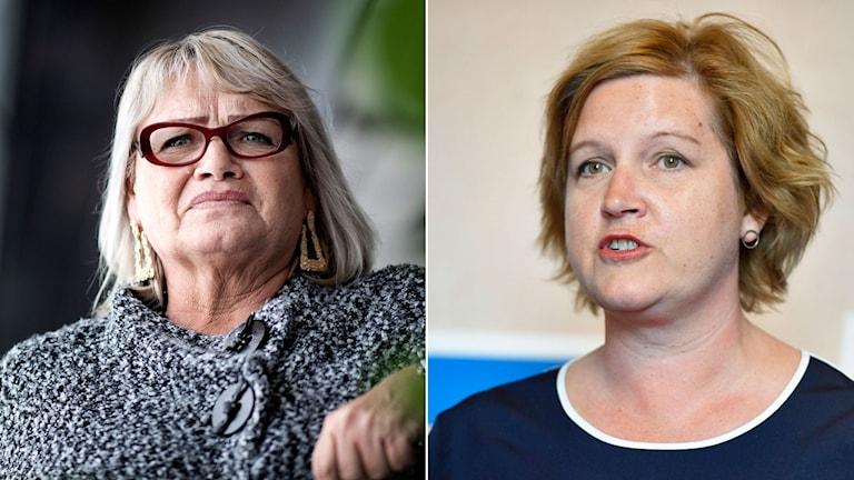Soraya Post, Fi och Liberalernas Karin Karlsbro.