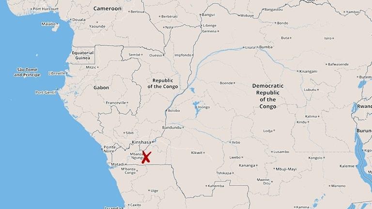 Kisantu Kongo karta