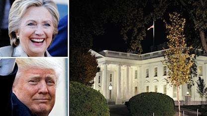 Hillary Clinton, Donald Trump och Vita huset.