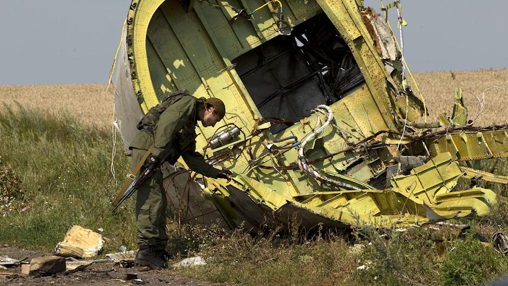 Arkivbild på det nedskjutna planet i Ukraina.