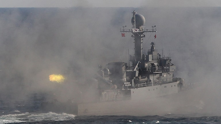 En båt ur den Sydkoreanska flottan.