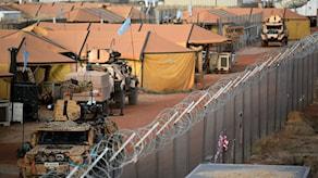 Arkivbild från  lägret för FN:s Minusmastyrka där de svenska FN-soldaterna är stationerade tillsammans med en rad andra länders utsända.