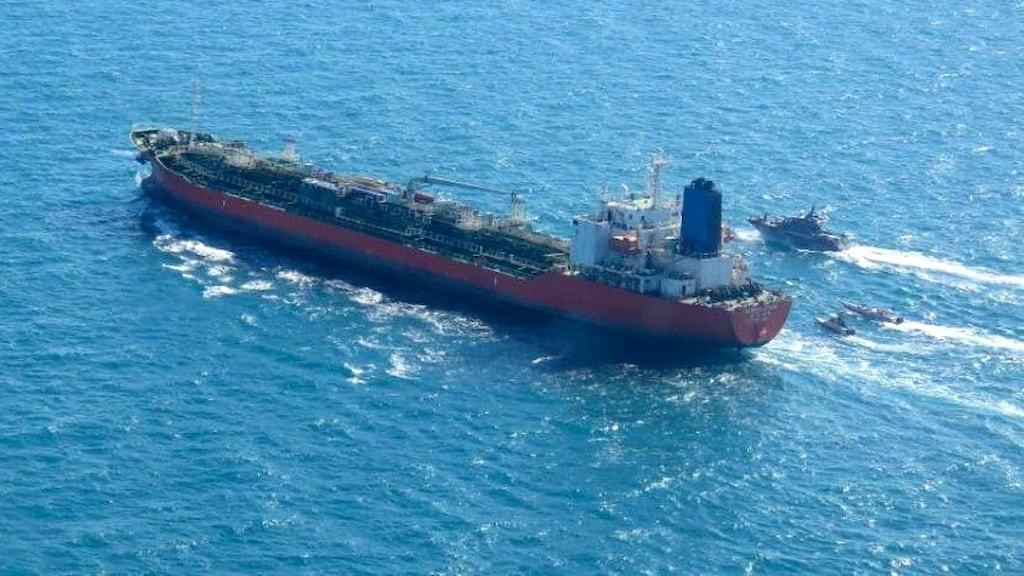 Sydkoreanska tankfartyget som beslagtagits av Iran.