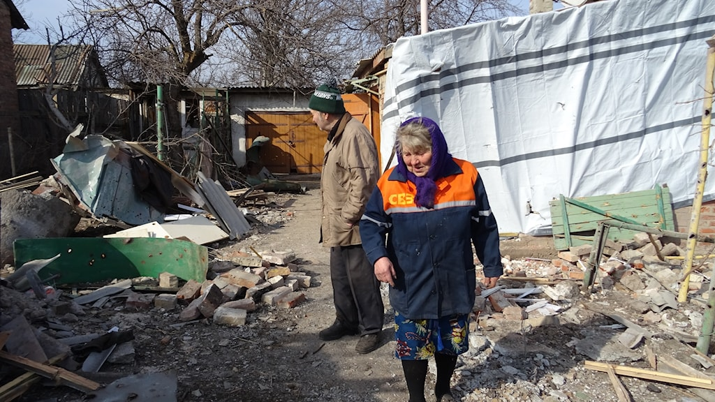 Pensionerade läraren Alexander och hans fru Lidija Drisjenko