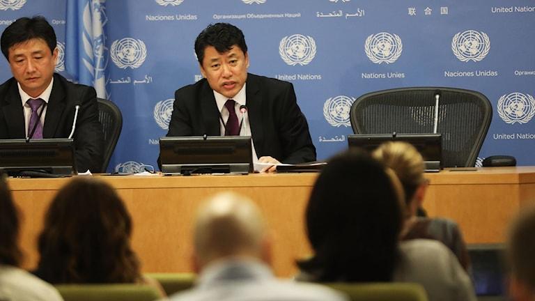 Nordkoreas vice FN-ambassadör Kim In Ryon.
