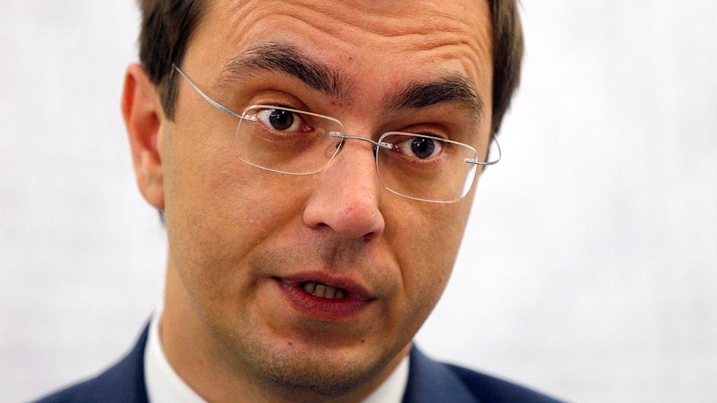 Ukrainas infrastrukturminister Volodymyr Omelyan