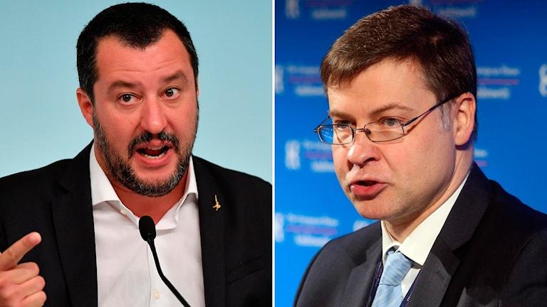 Matteo Salvini Valdis Dombrovskis