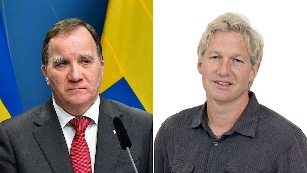 bild på statsminister Stefan Löfven och statsvetaren Jan Teorell