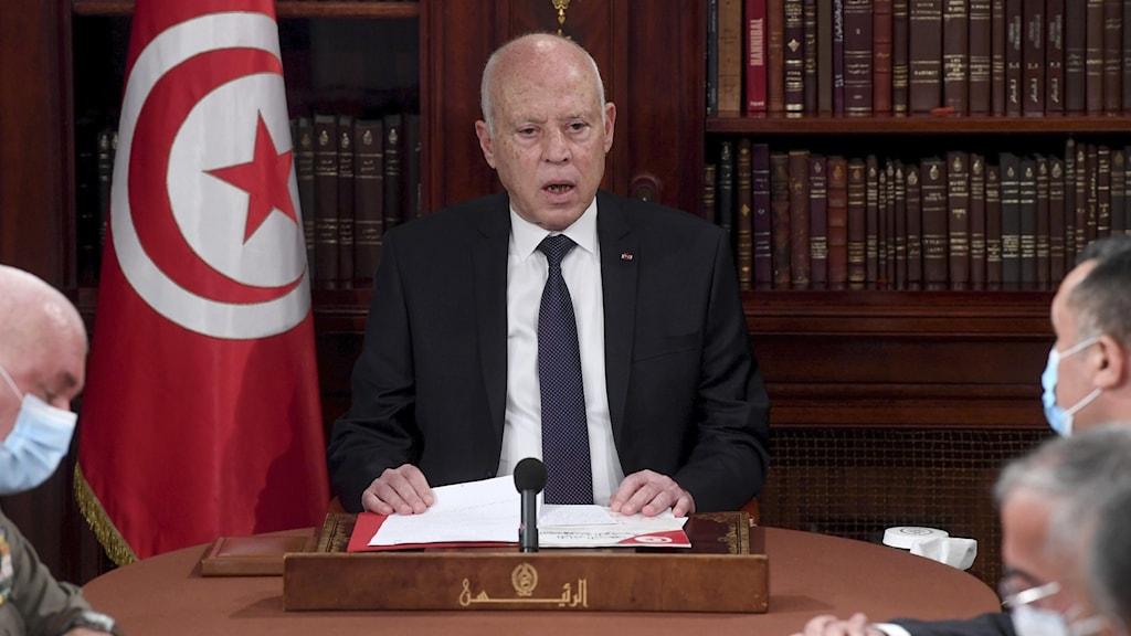 Tunisiens president Kais Saied.