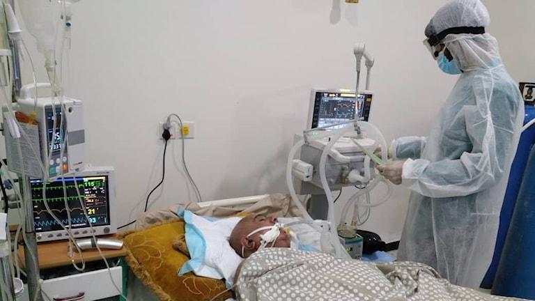 Al-Amalsjukhuset i Aden för coronapatienter.