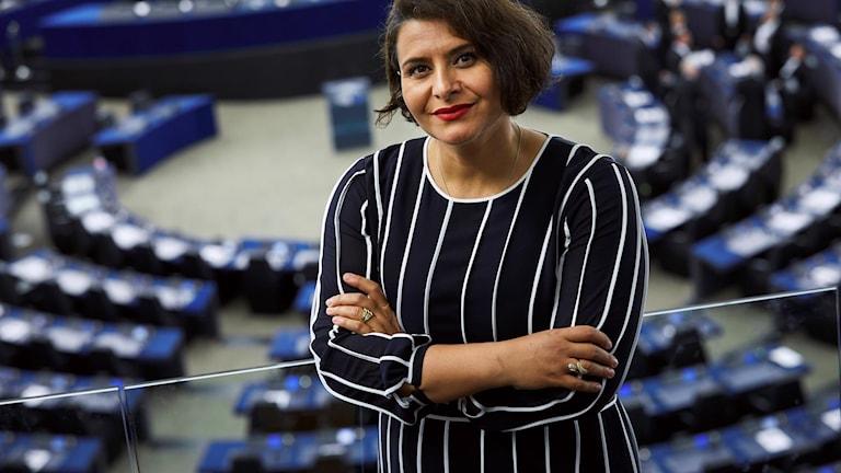 Centerpartiets Abir Al-Sahlani i Europaparlamentet.