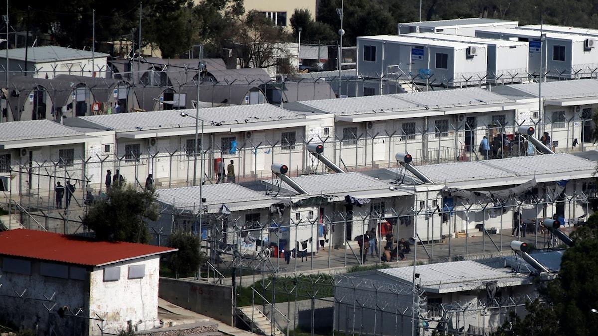 Flyktinglägret Moria på den grekiska ön Lesbos.