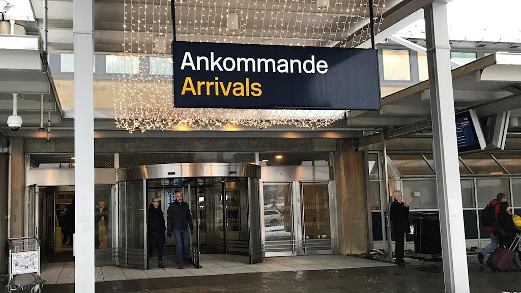 Entrén till Landvetter flygplats
