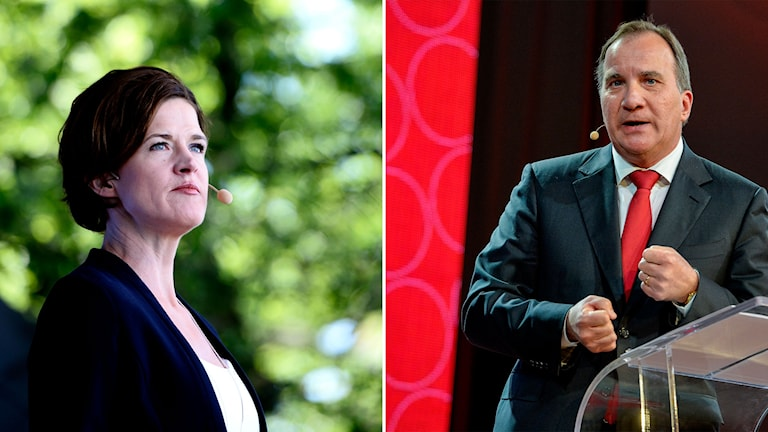Anna Kinberg Batra och Stefan Löfven. Foto: TT