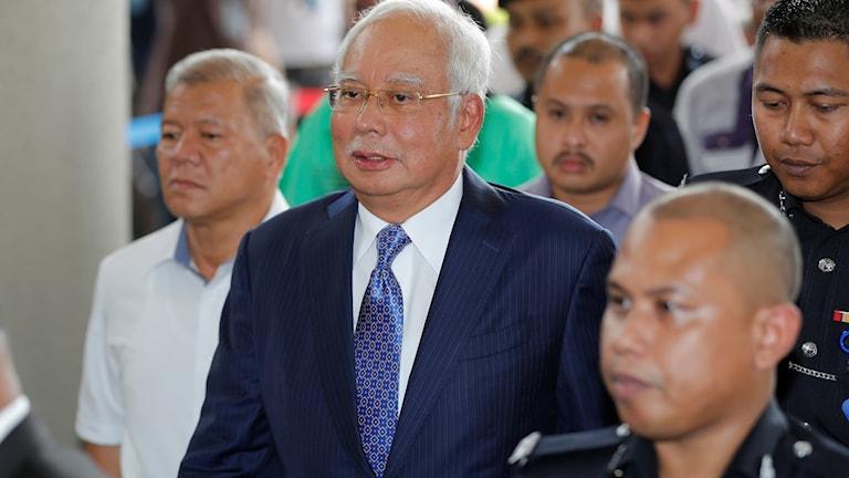 Malaysias förre premiärminister Najib Razak. Foto: Vincent Thian/TT.