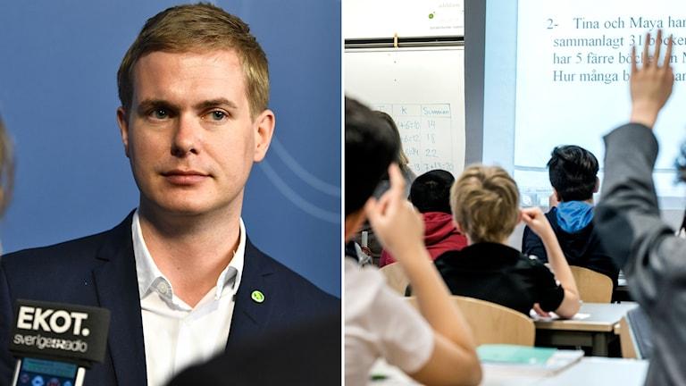 Gustav Fridolin, klassrum.